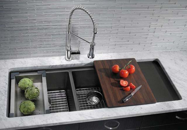 elegant kitchen sink