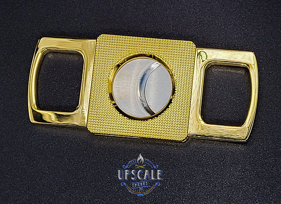 Order Prestige Etched Guillotine Cigar Cutter( Gold)  online from upscalesmokes