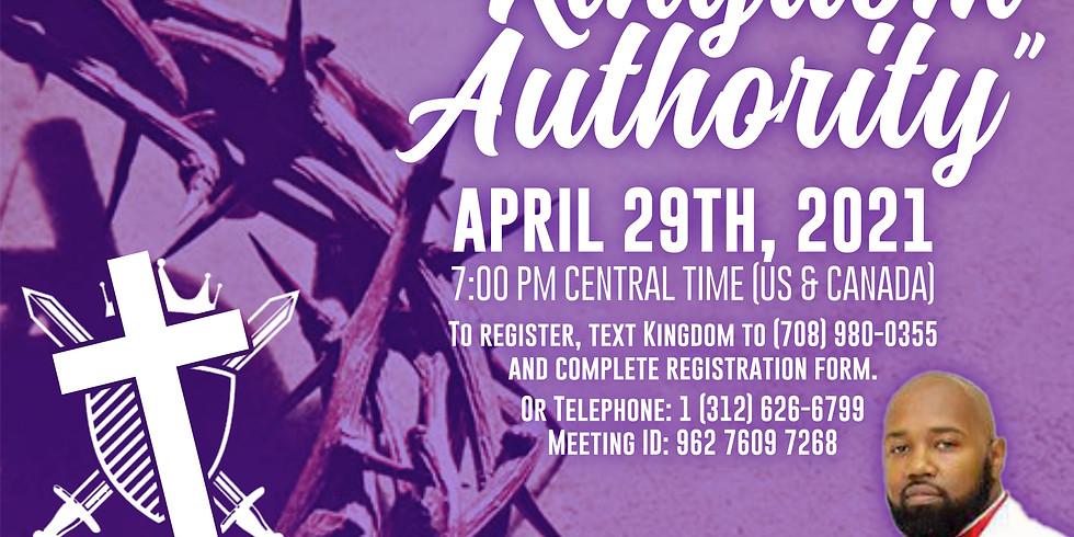 """UBSC Congress of  Christian Education Presents """"Kingdom Authority"""""""
