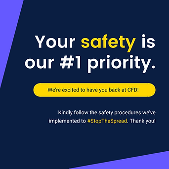 Yellow and Purple Text-only Safety Cultu