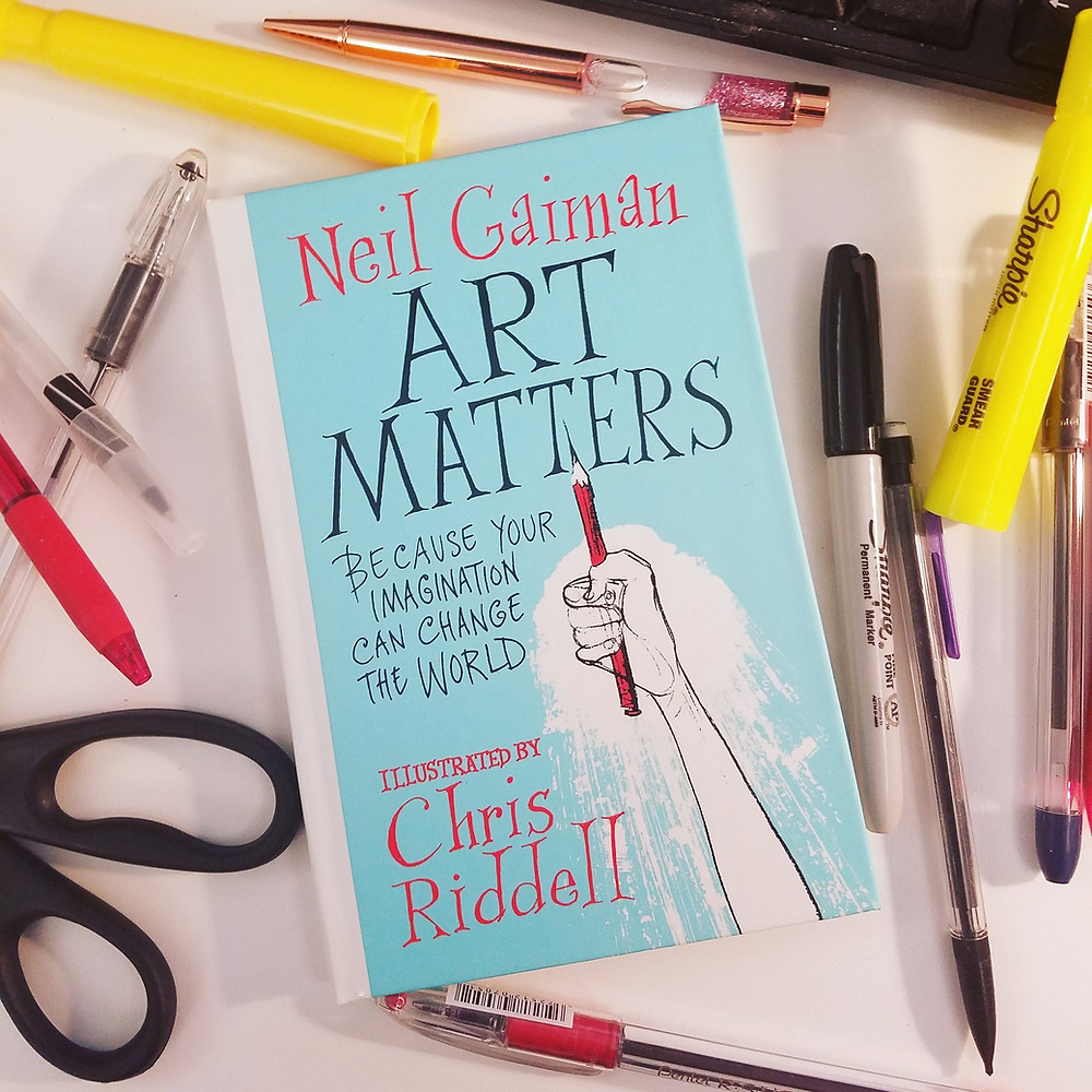 Brandie June reviews Art Matters by Neil Gaiman illustrated by Chris Riddell