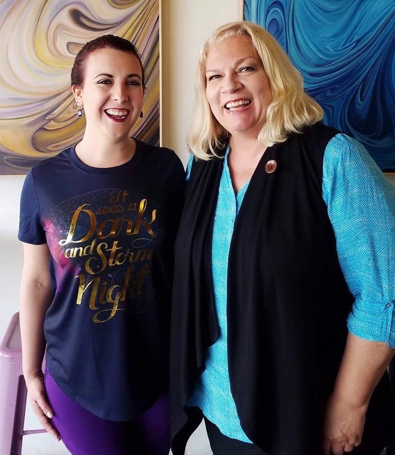Author Brandie June and editor Elaine Ash