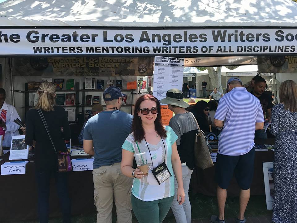 Author Brandie June at Los Angeles Time Festival of Book at the Greater Los Angeles Writers Society Booth