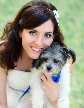 Brandie June Author with Puppy Buttercup
