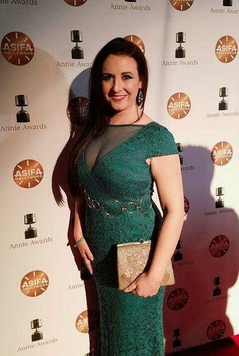Brandie June at the Annie Awards