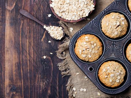 Greek yoghurt oat muffins