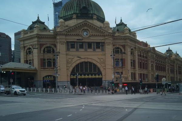 Flinders Street Station deserted due to COVID19