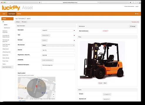 Lucidity Asset software screen capture