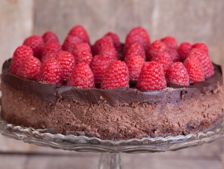 Erika Raspberry Chocolate Cheesecake