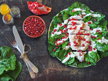 Quick & Easy Turkey Breast with Pomegranate and Yoghurt Sauce