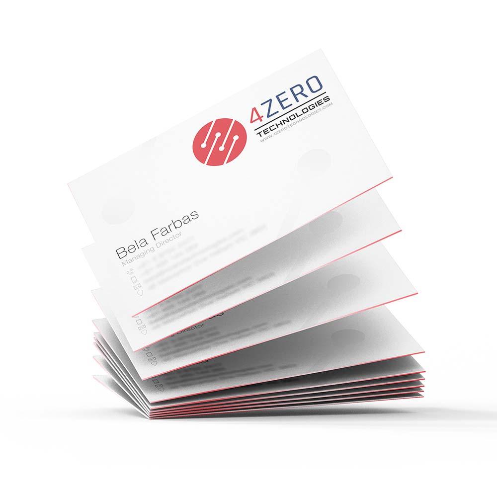 4Zero Business Cards