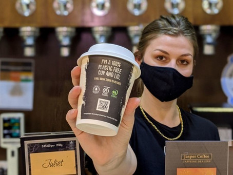 Jasper Coffee launches 100 per cent recyclable and compostable cup