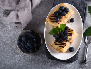 Blueberry and Cream Cheese Crepe