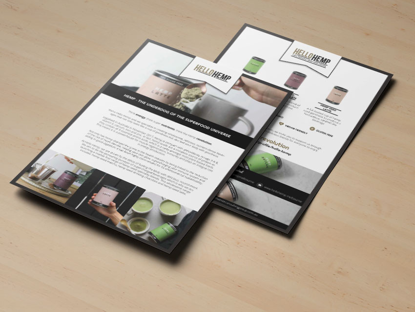 Hello Hemp press releases designed and written by Melbourne digital marketing agency Haines Media