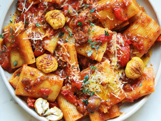 Sausage and Chestnut Pasta