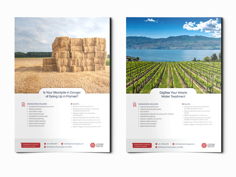4Zero brochures designed and written by Melbourne digital marketing agency Haines Media: 2/3