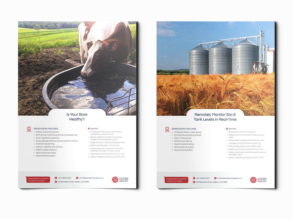 4Zero brochures designed and written by Melbourne digital marketing agency Haines Media: 1/3