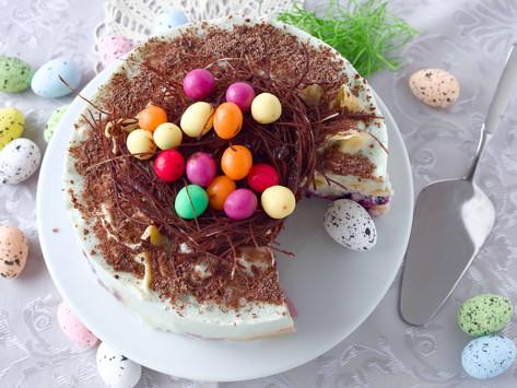 No-Bake Greek Yoghurt Easter Nest Cake
