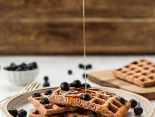 Pumpkin Spiced Blueberry Waffles