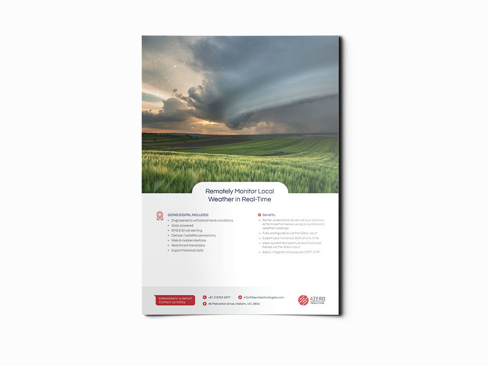 4Zero brochures designed and written by Melbourne digital marketing agency Haines Media: 3/3