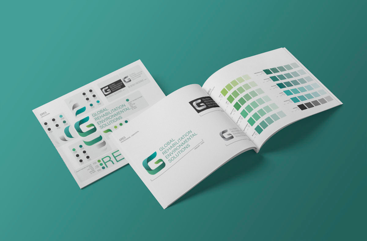 GRES logo design and branding style guide by Melbourne digital marketing agency Haines Media