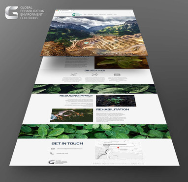 GRES website pages mockup by Melbourne digital marketing agency Haines Media