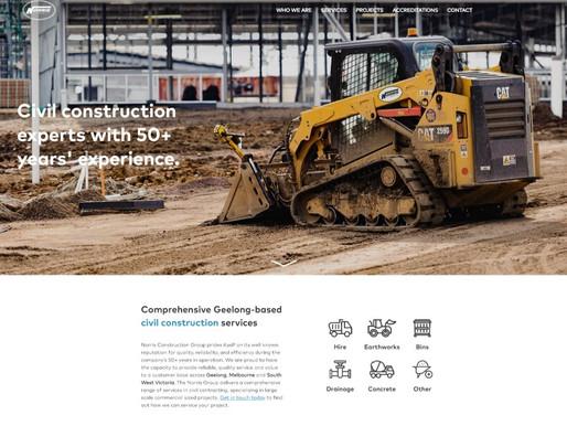Norris Construction Group website launch