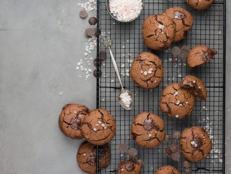Chocolate yoghurt cookies