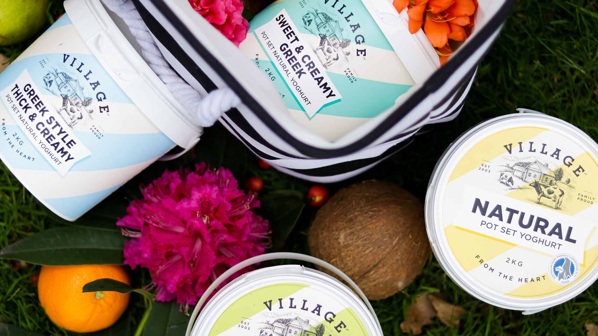 Village Dairy yoghurt product photography by Melbourne digital marketing agency Haines Media