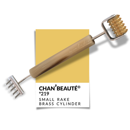 Small Rake/Toothed Brass Cylinder