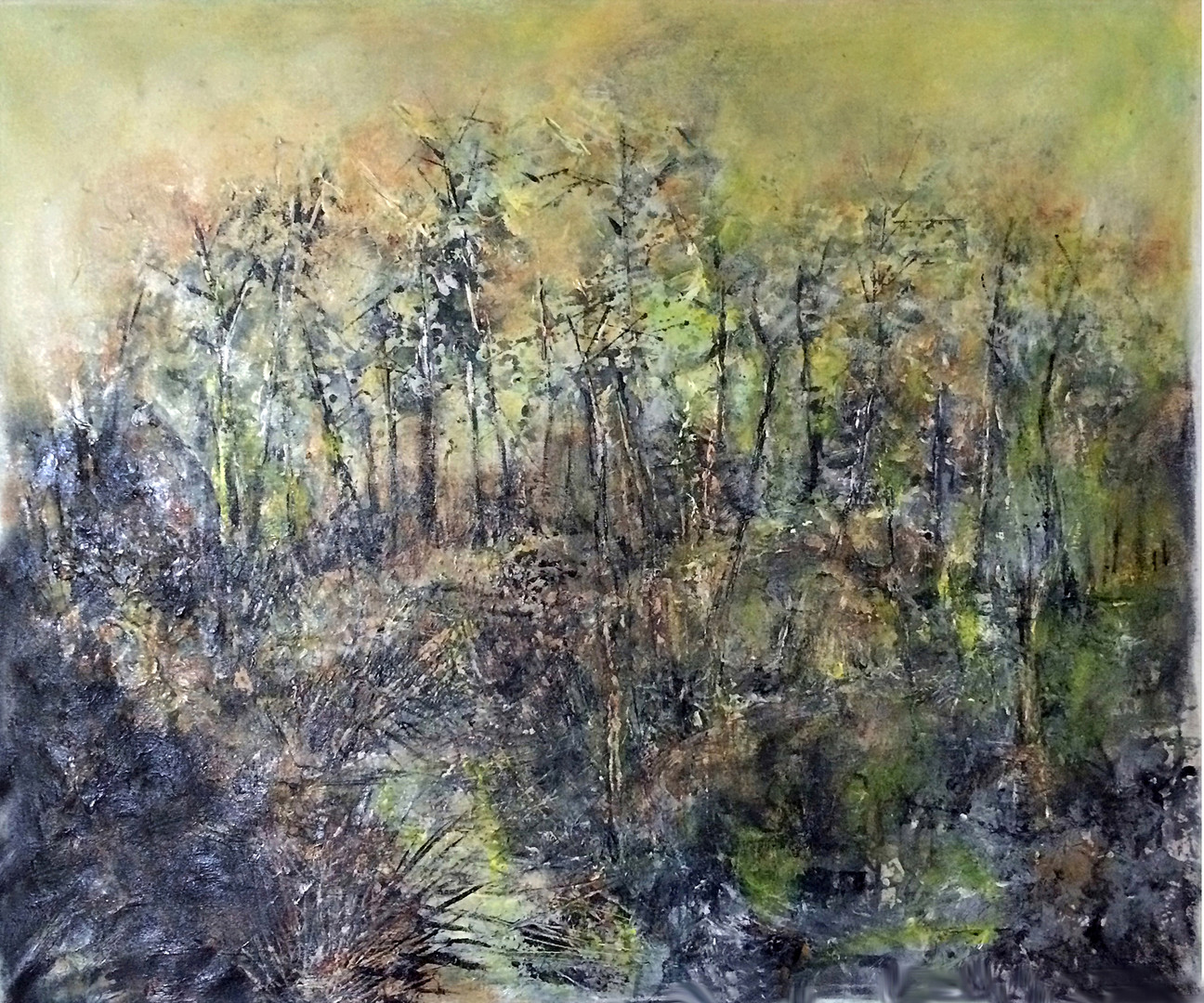 """Woods, 36""""30"""", acrylic on canvas, SOLD"""