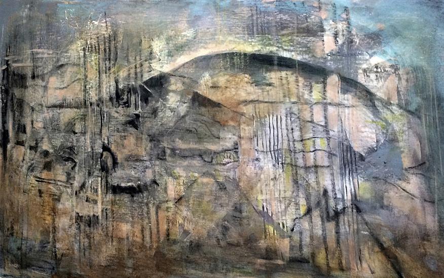 Ruins_30x48_acrylic on canvas,janetstrayer.com
