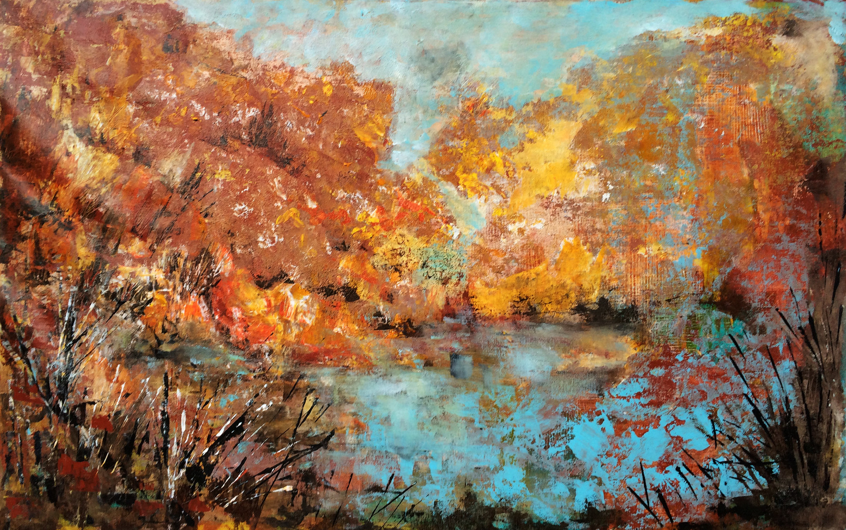 "Autumn,acrylic on canvas, 30x46"", SOLD"