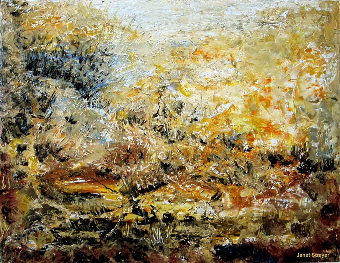 "Dynamic Field, 24""x30"", acrylic on canvas,janetstrayer.com"