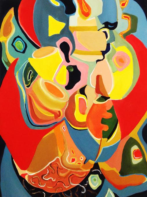 "Mambo, 40""x30"",  acrylic on canvas, Janet Strayer Art"