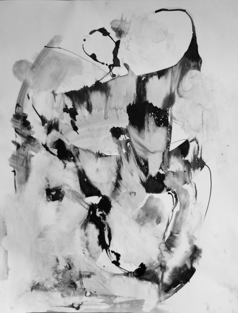 """Book of Sighs 5, 27.5""""x20"""", acrylic and ink on Arches/Fabriano paper (Intimations series)"""