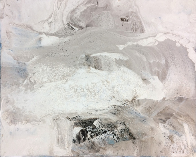 "Winter Sea, acryilic on canvas, 16""x20"""