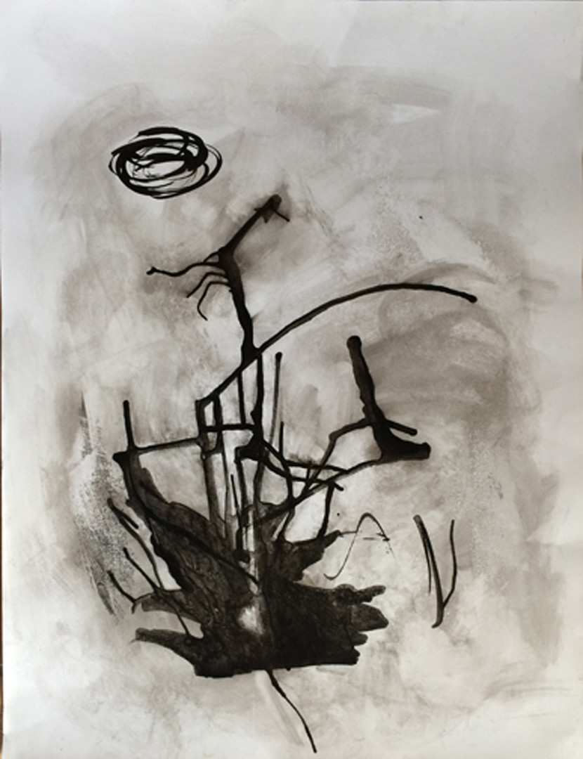 """Book of Sighs 3, 27.5""""x 20"""", acrylic and ink on Arches/Fabriano paper (Intimations series)"""