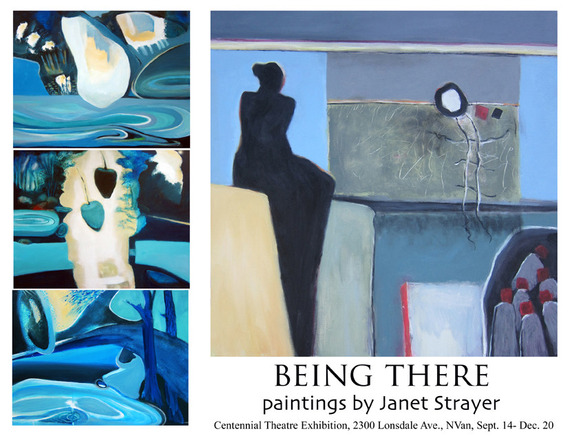 """Janet Strayer """"Being There"""" show of paintings at Centennial Theatre"""