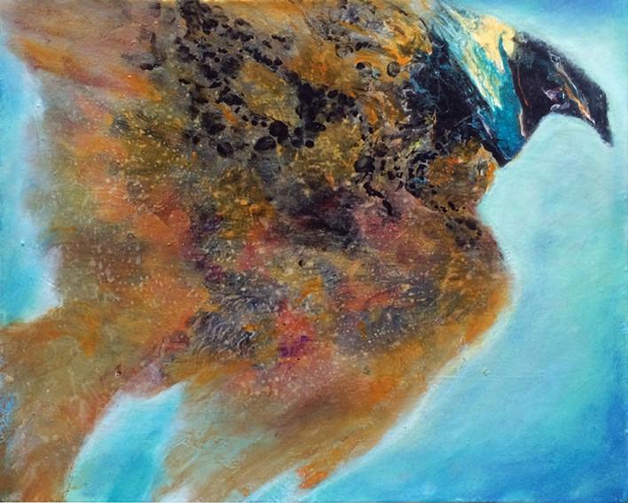 "Flight, acrylic on canvas, 16'x20"""