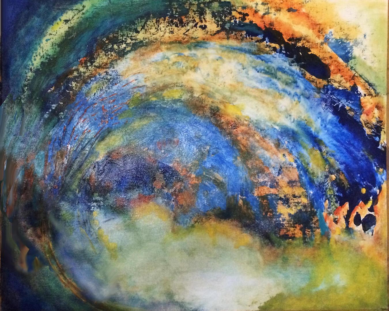 "Vectors series: Sky Vector, 36""x30"", acrylic on canvas_ Janet Strayer Art"