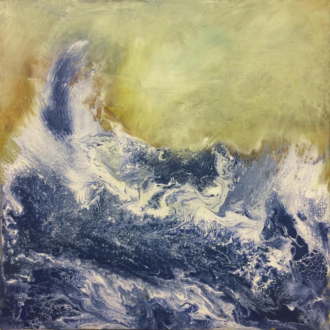 "Wave, 24""x24"", acrylic on canvas,janetstrayer.com"