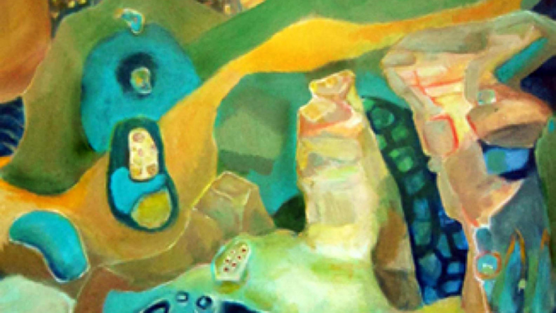 Huaca Path_48x36_acrylic on canvas_Janet Strayer Art