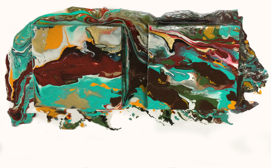 EarthCurrents_28x12_acrylic on two 8x8 canvases and duralar