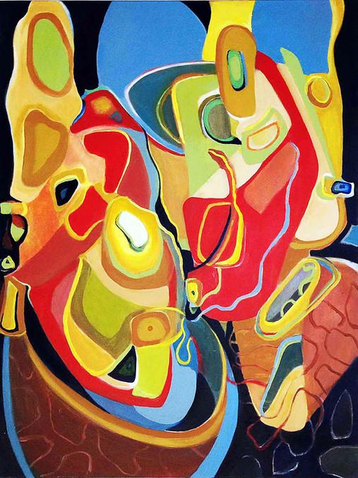 Java, 40x30 acrylic on canvas, Janet Strayer Art