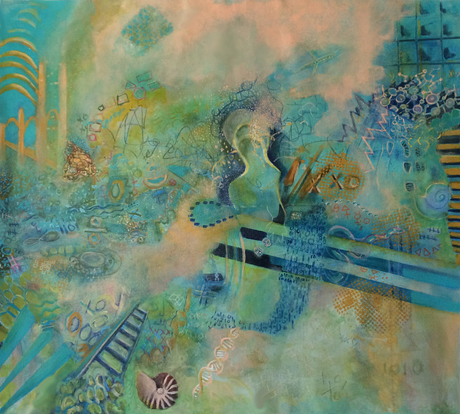 """Figuring Out the Universe_ 36x40"""", SOLD"""