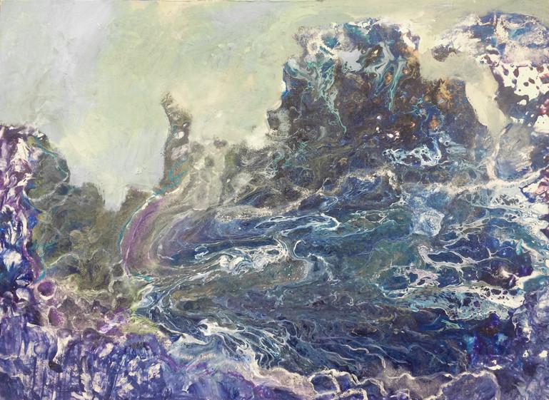 """Midst Sea and Sky, 18""""x24"""", acrylic on canvas"""