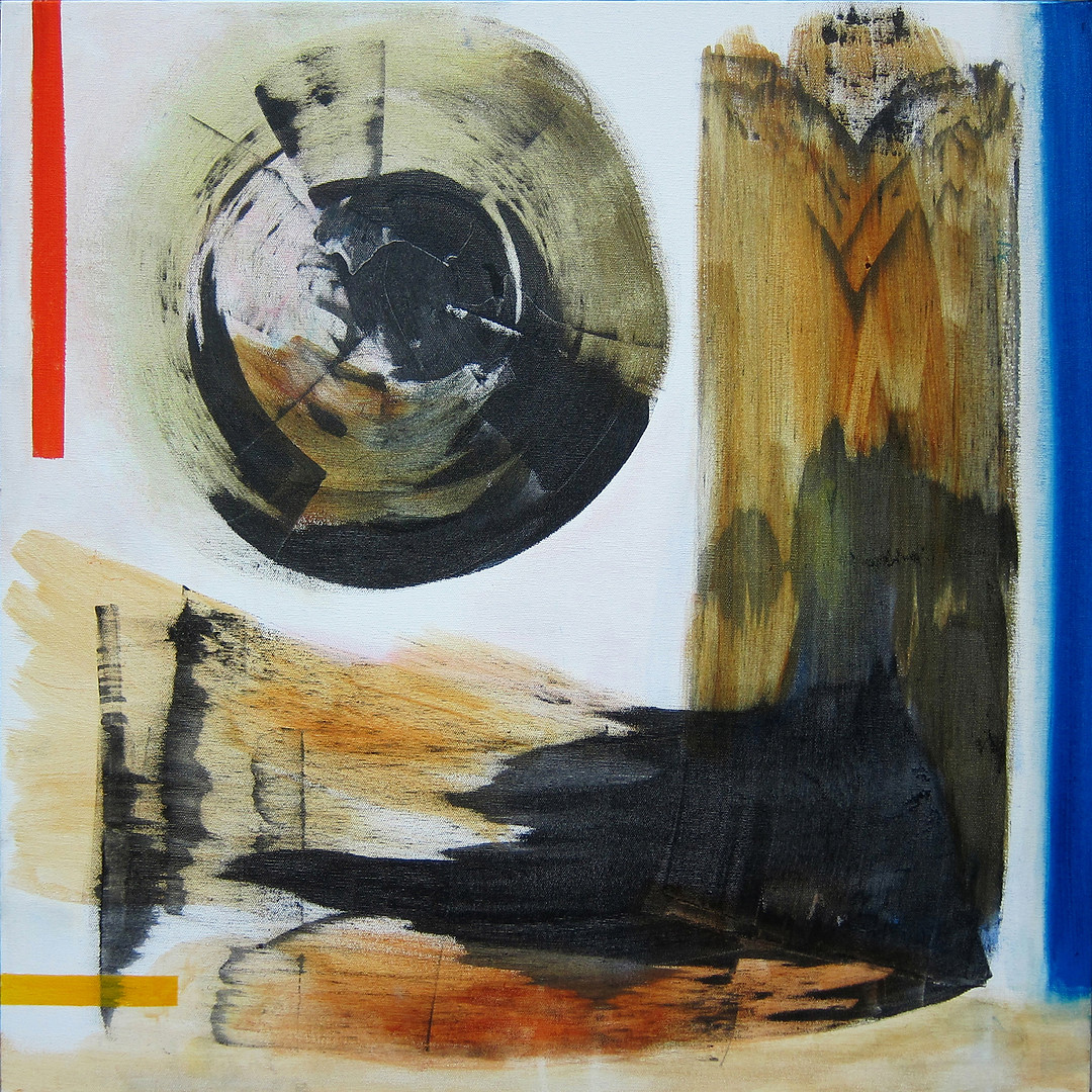 Vectors series: Magnetic_20x20_ acrylic on canvas_Janet Strayer Art