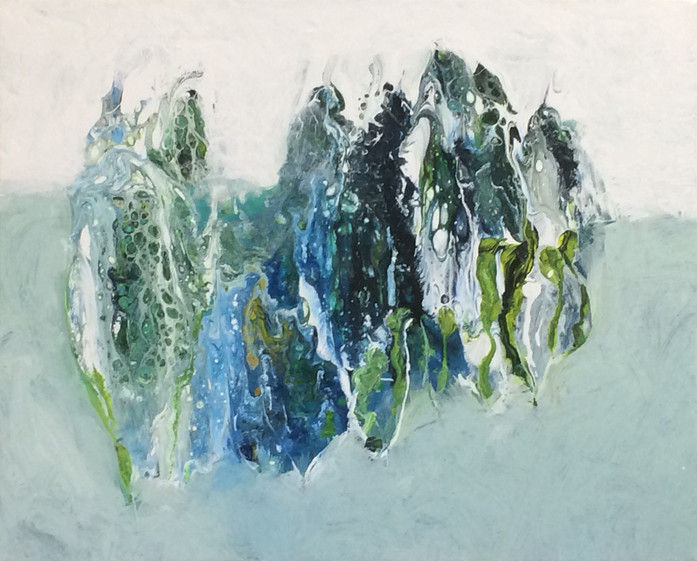 """Winter Forms, 16""""x20"""", acrylic on canvas"""