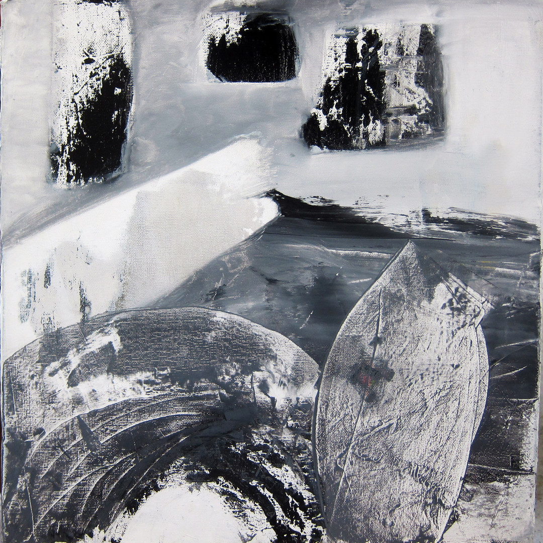 """Memory's Shore, 16""""x16"""", acrylic on canvas (Intimations series)"""
